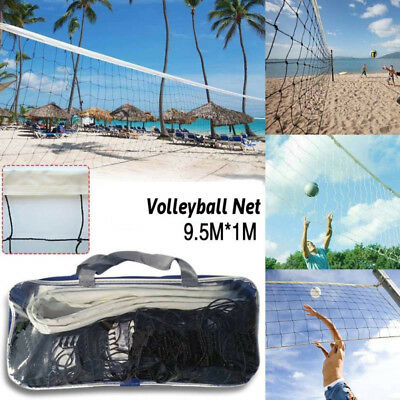 Universal Volleyball Net Windproof Non-absorbent 2.2 Wire Dia 9.5x1m PE Beach
