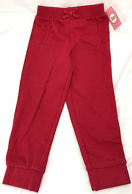 Circo Girls Sweat Pants Lounge Jogger Red 4T Bow Bottoms Toddler Free Shipping