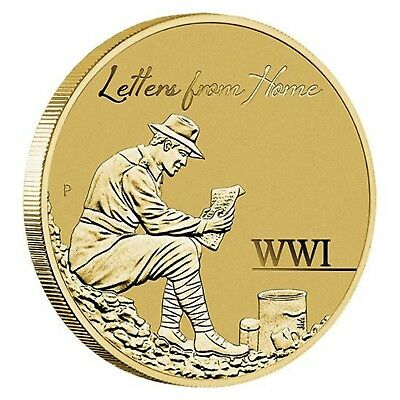 2016 WWI Letters From The Front Australia $1 One Dollar UNC Coin Perth Mint