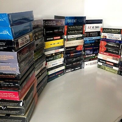 Audiobook Lot of 87 mystery, suspense, Self-help, Military, Fiction, Health diet