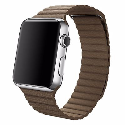 Genuine Leather Loop Magnetic Loop REPLACEMENT Watch Band for apple Watch (42mm)
