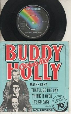 """BUDDY HOLLY & THE CRICKETS   Rare 1976 UK Only 7"""" OOP MCA P/C EP """"Crickets Hits"""""""