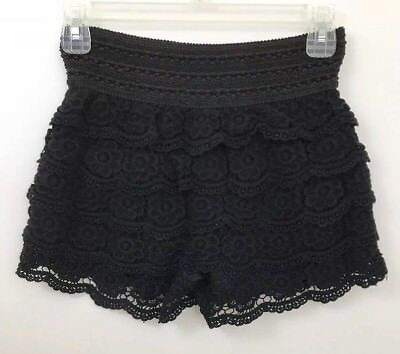2 Set Bundle: Women's Embroidered High Waisted Shorts Black Snoopy Shorts Size S