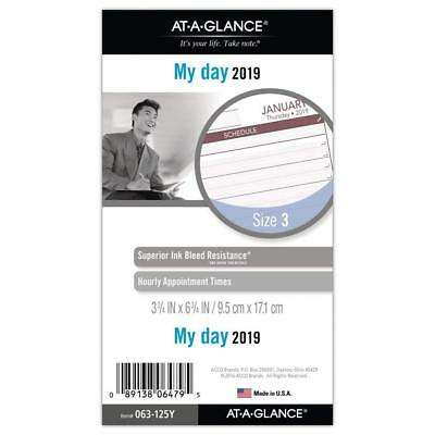 at-A-Glance Day Runner Daily Planner Refill, January 2019 - December 2019,...