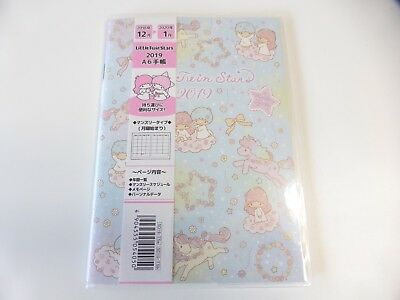 New product!! KAWAII Sanrio Little Twin Stars Schedule book 2019 A6 size Type A