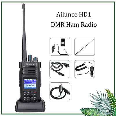 Ailunce GPS HD1 walkie talkie UHF/VHF Dual Band DMR Digital 2way Radio DCDM TDMA