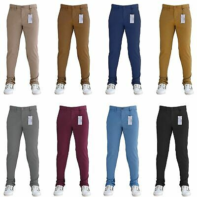 Mens Designer Trousers Chinos Stretch Regular Fit SNS Jeans All Waist Size