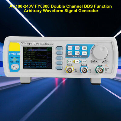 100-240V FY6800 Double Channel DDS Function Arbitrary Waveform Signal Generator