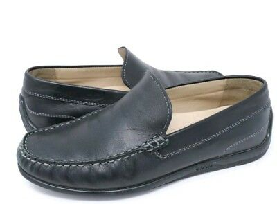 MENS SIZE 43 ECCO Classic Moc 2.0 Loafer Shoes Black Leather Comfort ... 712edc05077