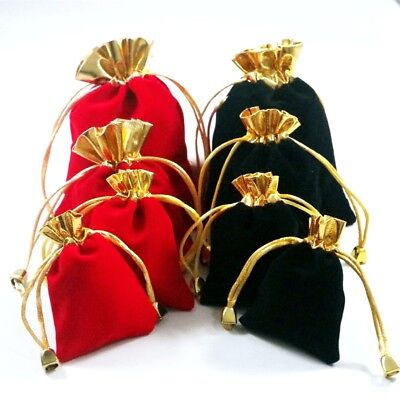 100pcs Luxury Jewellery Pouches Packing Velvet Gift Bags Wedding Jewelry