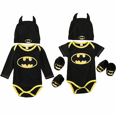 Baby Batman babygrow / bodysuit with hat and soft shoes 3 - 6 months