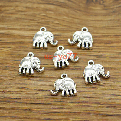 10 Hamsa Hand Spacer Beads Antique Silver Tone 2 Sided Bead Frame SC1687
