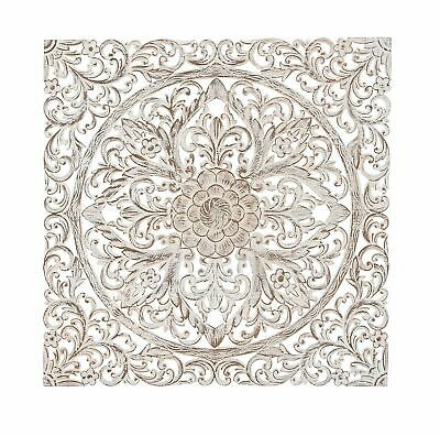 Bungalow Rose Traditional Carved Floral Medallion Wall Decor