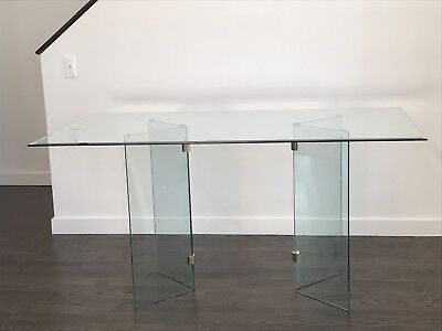Mid Century Modern Glass Dining Table
