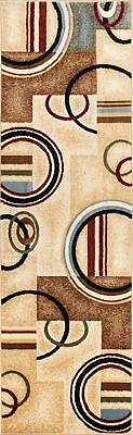 "Well Woven Barclay Arcs & Shapes Ivory Modern Geometric Area Rug 2'3"" X 7'3""..."