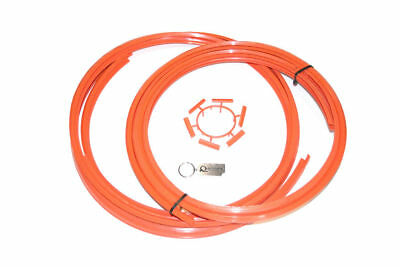 """ALLOYGATOR ALLOY WHEEL RIM PROTECTION BAND SYSTEM SET OF 4 IN ORANGE 13"""" to 21"""""""