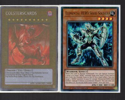Yugioh Card - Ultra Rare Holo - Elemental Hero Solid Soldier CT15-EN003 NEW
