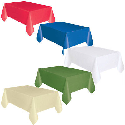 Table Cloth Covers Plastic Paper Multi Colour Size Buffet Food Restaurant Party