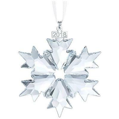 Swarovski 2018 Annual Snowflake Ornament, New in Box