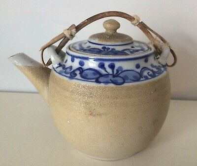 Japanese Sharkskin Pottery Teapot
