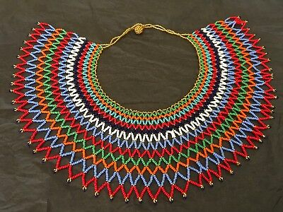 South African Beaded Zulu Wedding Necklace Contemporary New Handmade Africa