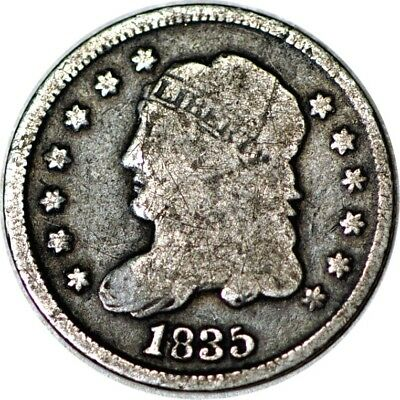 1835 H10C Capped Bust Half Dime Good  K4264