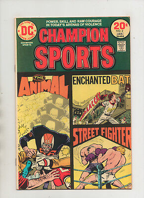 Champion Sports #2 - Enchanted Bat The Animal Street Fighter - (Grade 8.5) 1974