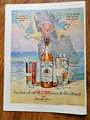 1945 Old St. Croix Rum Ad Pirate 1945 Olin Winchester Ad Bells Pleasant Valley