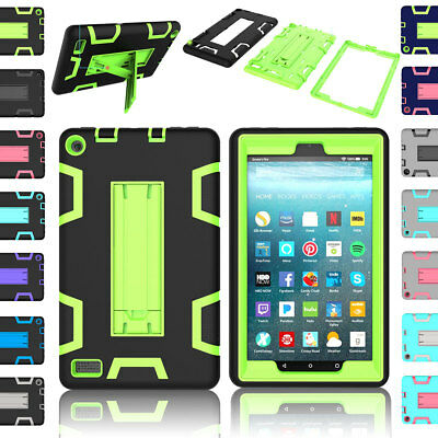 Rugged Shockproof Case Stand Cover For Amazon Kindle Fire 7 2017 7th Gen Tablet