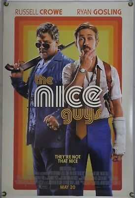 The Nice Guys Ds Rolled Orig 1Sh Movie Poster Ryan Gosling Russell Crowe (2016)