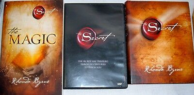 The Secret DVD Magic Book Lot Rhonda Byrne Self Help Transform Blessings Light