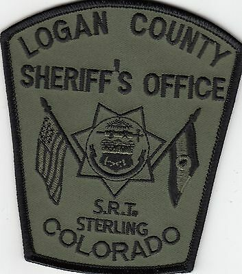 Logan County Srt Sheriff's Office Sterling Colorado Co Police Subdued Patch