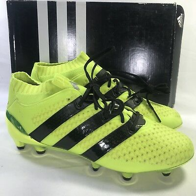 a7331fb9126c ADIDAS ACE 16.1 Primeknit Fg J Yellow Black Soccer Shoes 4.5Y BB0782 ...
