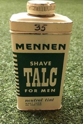 Vintage Mennen Shave Talc for Men Container with talc
