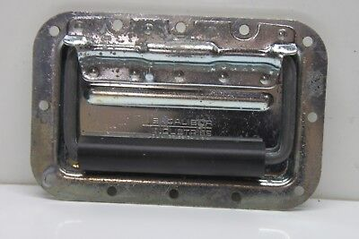 Vintage Excalibur Heavy Duty Metal/Rubber Chest Trunk Handles - Spring-Loaded
