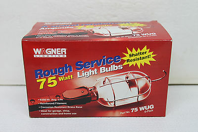 Box of 6 WAGNER LIGHTING Rough Service Lamps Light Bulbs - 75 Watt - 75WUG