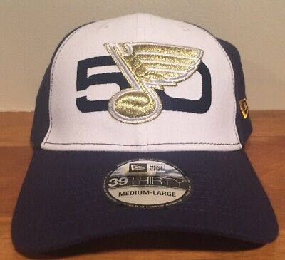 adc085e04a9 ST LOUIS BLUES NEW ERA 39THIRTY 50TH ANNIVERSARY FLEX Hat Cap Fit Med-Large
