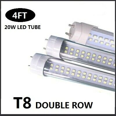 T8-4FT Double Line LED Tube Light  Dual Diode Lamp 2400LM 24W 10/25/50Pack