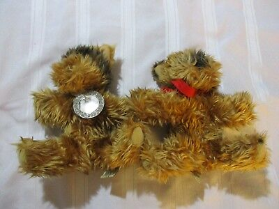 Victoria's Secret MAX and LUCY Yorkie Plush Dogs Yorkshire Terrier 2003 Lim. Ed.