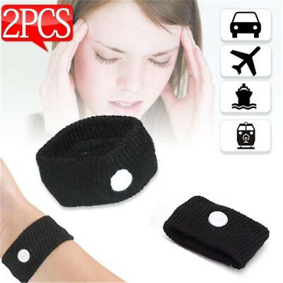 2x Anti Nausea Wristbands Travel Sick Bands Motion Sea Plane Car Sickness  JO