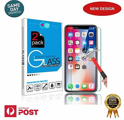 2 xGenuine PRO+ Tempered Glass Screen Protector for Apple iPhone X-Same day Post
