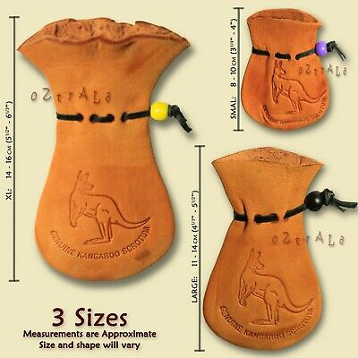 ●oZtrALa● Kangaroo SCROTUM Pouch Jumbo Wallet REAL Mens Coin Purse LEATHER Gift●