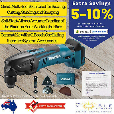 Makita 18V Cordless Multi Purpose Tool Oscillating Multitool Blades Accessories