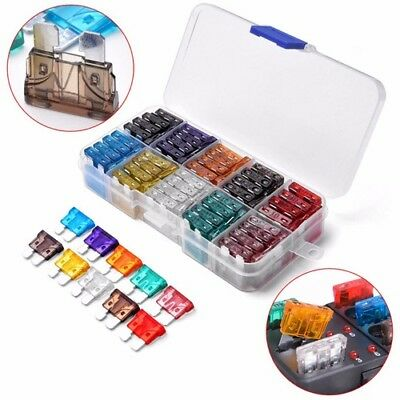 100pcs Blade Fuse Assortment Set with Box Auto Car Motorcycle SUV 2A - 35A Kit