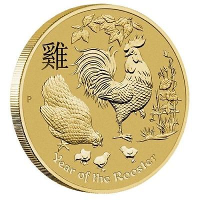 Australia 2017 Year of the Rooster $1 One Dollar UNC Coin