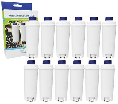 12x Compatible Water Filter for DELONGHI DLSC002 SER3017 Espresso / Bean to Cup