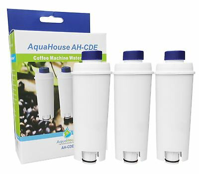 3x Water filter fits Delonghi SER3017 Espresso Coffee Maker DLS C002 Bean to Cup