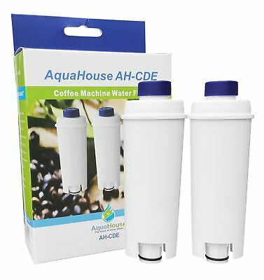 2x Water Filter fits Delonghi Coffee Maker ECAM22.110.B ECAM26.445M ECAM23.450.S