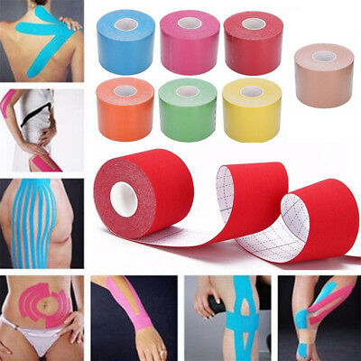 5M Soft Kinesiology Tape Athletic Muscle Support Sport Physio Therapeutic Tape