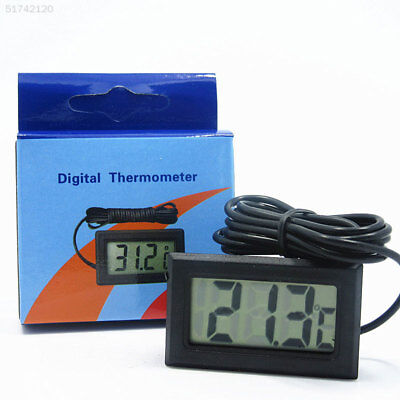 A58B CBDD Digital LCD Fish Tank Aquarium Thermometer With Waterproof Probe Black